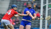 20 May 2018; Cillian O'Brien of Clare in action against Paddy O'Flynn of Cork during the Electric Ireland Munster GAA Hurling Minor Championship Round 1 match between Cork and Clare at Páirc Uí Chaoimh in Cork. Photo by Brendan Moran/Sportsfile