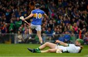 20 May 2018; Dan McCormack of Tipperary celebrates after shooting past Nickie Quaid of Limerick to score his side's first goal in the 20th minute during the Munster GAA Hurling Senior Championship Round 1 match between Limerick and Tipperary at the Gaelic Grounds in Limerick. Photo by Ray McManus/Sportsfile
