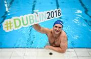 21 May 2018; Rory O'Connor in attendance at the Dublin 2018 World Para Swimming Allianz European Championships Ticket Launch at the National Aquatic Centre in Dublin. Tickets for the Dublin2018 World Para Swimming Allianz European Championships are now on sale at www.paralympics.ie Paralympians Ellen Keane and Nicole Turner joined #Dublin2018 Ambassadors Rory's Stories and Claire Bergin to launch the ticket sales platform. Photo by David Fitzgerald/Sportsfile