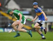 20 May 2018; Sean Finn of Limerick in action against John McGrath of Tipperary during the Munster GAA Hurling Senior Championship Round 1 match between Limerick and Tipperary at the Gaelic Grounds in Limerick. Photo by Ray McManus/Sportsfile