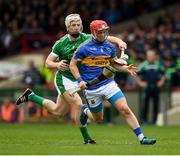 20 May 2018; Willie Connors of Tipperary in action against Cian Lynch of Limerick during the Munster GAA Hurling Senior Championship Round 1 match between Limerick and Tipperary at the Gaelic Grounds in Limerick. Photo by Ray McManus/Sportsfile