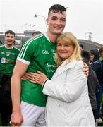 20 May 2018; Kyle Hayes of Limerick with his mother Pat after the Munster GAA Hurling Senior Championship Round 1 match between Limerick and Tipperary at the Gaelic Grounds in Limerick. Photo by Ray McManus/Sportsfile