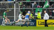 20 May 2018; Patrick Maher, 23, of Tipperary fires a shot wide in the last few minutes during the Munster GAA Hurling Senior Championship Round 1 match between Limerick and Tipperary at the Gaelic Grounds in Limerick. Photo by Ray McManus/Sportsfile