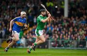 20 May 2018; Barry Murphy of Limerick races clear of Séamus Kennedy of Tipperary, as he scores a late goal during the Munster GAA Hurling Senior Championship Round 1 match between Limerick and Tipperary at the Gaelic Grounds in Limerick. Photo by Ray McManus/Sportsfile