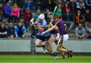 20 May 2018; Liam Rushe of Dublin in action against Shaun Murphy, left, and Diarmuid O'Keeffe of Wexford during the Leinster GAA Hurling Senior Championship Round 2 match between Wexford and Dublin at Innovate Wexford Park in Wexford. Photo by Daire Brennan/Sportsfile