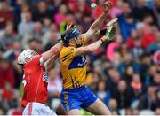 20 May 2018; David McInerney of Clare in action against Luke Meade of Cork during the Munster GAA Hurling Senior Championship Round 1 match between Cork and Clare at Páirc Uí Chaoimh in Cork. Photo by Brendan Moran/Sportsfile