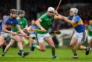 20 May 2018; Aaron Gillane of Limerick in action against Dan McCormack, left, and Sean O'Brien of Tipperary during the Munster GAA Hurling Senior Championship Round 1 match between Limerick and Tipperary at the Gaelic Grounds in Limerick. Photo by Ray McManus/Sportsfile