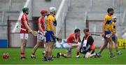 20 May 2018; Daniel Kearney of Cork receives medical attention during the Munster GAA Hurling Senior Championship Round 1 match between Cork and Clare at Páirc Uí Chaoimh in Cork. Photo by Brendan Moran/Sportsfile