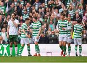20 May 2018; Greg Cunningham of Republic of Ireland XI reacts after his side conceded their second goal during Scott Brown's testimonial match between Celtic and Republic of Ireland XI at Celtic Park in Glasgow, Scotland. Photo by Stephen McCarthy/Sportsfile