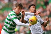 20 May 2018; Jack Hendry of Celtic in action against Callum Robinson of Republic of Ireland XI during Scott Brown's testimonial match between Celtic and Republic of Ireland XI at Celtic Park in Glasgow, Scotland. Photo by Stephen McCarthy/Sportsfile