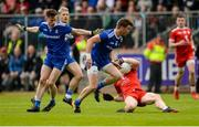20 May 2018; Conor Meyler of Tyrone goes down under the challenge of Karl O'Connell of Monaghan, left,  during the Ulster GAA Football Senior Championship Quarter-Final match between Tyrone and Monaghan at Healy Park in Tyrone. Photo by Oliver McVeigh/Sportsfile