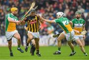 20 May 2018; Colin Fennelly of Kilkenny in action against Offaly's, from left, Shane Kinsella, David O'Toole Greene and Damien Egan during the Leinster GAA Hurling Senior Championship Round 2 match between Kilkenny and Offaly at Nowlan Park in Kilkenny. Photo by Piaras Ó Mídheach/Sportsfile