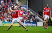 20 May 2018; Patrick Horgan of Cork takes a free in injury time of the Munster GAA Hurling Senior Championship Round 1 match between Cork and Clare at Páirc Uí Chaoimh in Cork. Photo by Brendan Moran/Sportsfile