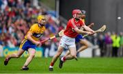 20 May 2018; Daniel Kearney of Cork in action against Colm Galvin of Clare during the Munster GAA Hurling Senior Championship Round 1 match between Cork and Clare at Páirc Uí Chaoimh in Cork. Photo by Brendan Moran/Sportsfile