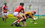 20 May 2018; John Conlon of Clare is tackled by Christopher Joyce of Cork during the Munster GAA Hurling Senior Championship Round 1 match between Cork and Clare at Páirc Uí Chaoimh in Cork. Photo by Brendan Moran/Sportsfile