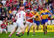 20 May 2018; Sean O'Donoghue of Cork and Shane O'Donnell of Clare compete for possession during the Munster GAA Hurling Senior Championship Round 1 match between Cork and Clare at Páirc Uí Chaoimh in Cork. Photo by Brendan Moran/Sportsfile