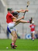 20 May 2018; Mark Coleman of Cork contests a dropping ball with Cathal Malone of Clare during the Munster GAA Hurling Senior Championship Round 1 match between Cork and Clare at Páirc Uí Chaoimh in Cork. Photo by Brendan Moran/Sportsfile