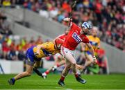 20 May 2018; Sean O'Donoghue of Cork breaks away from Peter Duggan of Clare during the Munster GAA Hurling Senior Championship Round 1 match between Cork and Clare at Páirc Uí Chaoimh in Cork. Photo by Brendan Moran/Sportsfile
