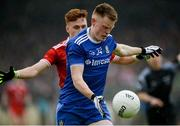 20 May 2018; Ryan McAnespie of Monaghan in action against Conor Meyler of Tyrone during the Ulster GAA Football Senior Championship Quarter-Final match between Tyrone and Monaghan at Healy Park in Tyrone. Photo by Oliver McVeigh/Sportsfile