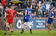 20 May 2018; Conor McManus of Monaghan celebrates after scoring a last minute point near the end of the Ulster GAA Football Senior Championship Quarter-Final match between Tyrone and Monaghan at Healy Park in Tyrone. Photo by Oliver McVeigh/Sportsfile