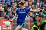 20 May 2018; Conor McManus of Monaghan shoots to score a late point during the Ulster GAA Football Senior Championship Quarter-Final match between Tyrone and Monaghan at Healy Park in Tyrone. Photo by Oliver McVeigh/Sportsfile