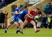 20 May 2018; Conor Meyler of Tyrone in action against Dessie Mone of Monaghan during the Ulster GAA Football Senior Championship Quarter-Final match between Tyrone and Monaghan at Healy Park in Tyrone. Photo by Oliver McVeigh/Sportsfile