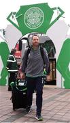 20 May 2018; Republic of Ireland video analyst Ger Dunne arrives prior to Scott Brown's testimonial match between Celtic and Republic of Ireland XI at Celtic Park in Glasgow, Scotland. Photo by Stephen McCarthy/Sportsfile