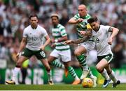20 May 2018; Sean Maguire of Republic of Ireland XI is tackled by Scott Brown of Celtic during Scott Brown's testimonial match between Celtic and Republic of Ireland XI at Celtic Park in Glasgow, Scotland. Photo by Stephen McCarthy/Sportsfile