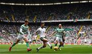 20 May 2018; Sean Maguire of Republic of Ireland XI in action against Jack Hendry, left, and Scott Brown of Celtic during Scott Brown's testimonial match between Celtic and Republic of Ireland XI at Celtic Park in Glasgow, Scotland. Photo by Stephen McCarthy/Sportsfile