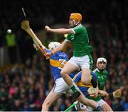 20 May 2018; Seamus Flanagan of Limerick in action against Séamus Kennedy of Tipperary during the Munster GAA Hurling Senior Championship Round 1 match between Limerick and Tipperary at the Gaelic Grounds in Limerick. Photo by Ray McManus/Sportsfile