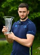 21 May 2018; Josh Murphy of Leinster receives the Bank of Ireland Leinster Rugby Player of the Month for March at Leinster Rugby Headquarters in Dublin. Photo by Brendan Moran/Sportsfile