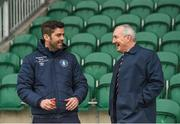 21 May 2018; Limerick manager Tommy Barrett, left, and Cork City manager John Caulfield in conversation prior to the SSE Airtricity League Premier Division match between Limerick FC and Cork City at the Market's Field in Limerick. Photo by Diarmuid Greene/Sportsfile
