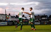 21 May 2018; Garry Buckley of Cork City, left, celebrates with team-mate Josh O'Hanlon after scoring his side's second goal during the SSE Airtricity League Premier Division match between Limerick FC and Cork City at the Market's Field in Limerick. Photo by Diarmuid Greene/Sportsfile