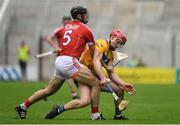 20 May 2018; John Conlon of Clare in action against Christopher Joyce of Cork during the Munster GAA Hurling Senior Championship Round 1 match between Cork and Clare at Páirc Uí Chaoimh in Cork. Photo by Brendan Moran/Sportsfile