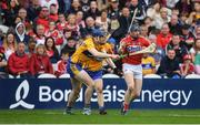 20 May 2018; Conor Lehane of Cork in action against David Fitzgerald of Clare during the Munster GAA Hurling Senior Championship Round 1 match between Cork and Clare at Páirc Uí Chaoimh in Cork. Photo by Brendan Moran/Sportsfile