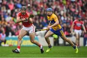 20 May 2018; Christopher Joyce of Cork in action against Shane O'Donnell of Clare during the Munster GAA Hurling Senior Championship Round 1 match between Cork and Clare at Páirc Uí Chaoimh in Cork. Photo by Brendan Moran/Sportsfile
