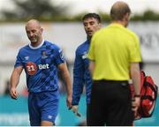 21 May 2018; Paul Keegan of Waterford leaves the field after picking up an injury during the SSE Airtricity League Premier Division match between Dundalk and Waterford at Oriel Park in Dundalk. Photo by Piaras Ó Mídheach/Sportsfile