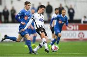 21 May 2018; Jamie McGrath of Dundalk in action against John Martin of Waterford during the SSE Airtricity League Premier Division match between Dundalk and Waterford at Oriel Park in Dundalk. Photo by Piaras Ó Mídheach/Sportsfile
