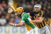 20 May 2018; Shane Kinsella of Offaly in action against TJ Reid of Kilkenny during the Leinster GAA Hurling Senior Championship Round 2 match between Kilkenny and Offaly at Nowlan Park in Kilkenny. Photo by Piaras Ó Mídheach/Sportsfile