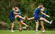 22 May 2018; Jordan Larmour, far left,  during Leinster Rugby squad training at UCD in Belfield, Dublin. Photo by Sam Barnes/Sportsfile