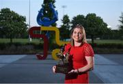 22 May 2018; Katie Mullan, UCD Ladies Hockey, pictured with the Dr. Tony O'Neill Sportsperson of the Year award at the Bank of Ireland AUC Sports Awards 2018 at UCD in Dublin. Photo by David Fitzgerald/Sportsfile