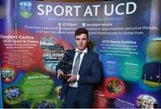 22 May 2018; Jack Dunphy, UCD GAA, with The Bank of Ireland Inclusion Award at the Bank of Ireland AUC Sports Awards 2018 at UCD in Dublin. Photo by David Fitzgerald/Sportsfile