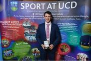 22 May 2018; John Murphy pictured with the Padraic Conway Memorial Medal at the Bank of Ireland AUC Sports Awards 2018 at UCD in Dublin. Photo by David Fitzgerald/Sportsfile