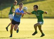 23 May 2018; Conor Murray of Dublin in action against Sean Coffey of Meath during the Electric Ireland Leinster GAA Football Minor Championship Round 2 match between Meath and Dublin at Páirc Tailteann in Navan, Co Meath. Photo by Barry Cregg/Sportsfile