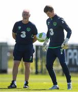25 May 2018; Conor O'Malley and goalkeeping coach Seamus McDonagh during a Republic of Ireland squad training session at the FAI National Training Centre in Abbotstown, Dublin. Photo by Stephen McCarthy/Sportsfile