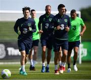 25 May 2018; Harry Arter, left, and John Egan during a Republic of Ireland squad training session at the FAI National Training Centre in Abbotstown, Dublin. Photo by Stephen McCarthy/Sportsfile
