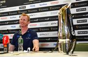 25 May 2018; Head coach Leo Cullen during a Leinster press conference at the Aviva Stadium in Dublin. Photo by Ramsey Cardy/Sportsfile