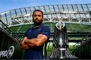 25 May 2018; Leinster captain Isa Nacewa ahead of the Guinness PRO14 Final between Leinster and Scarlets at the Aviva Stadium in Dublin. Photo by Ramsey Cardy/Sportsfile