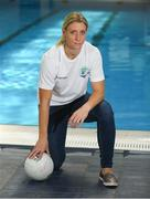 25 May 2018; Mayo Ladies Gaelic Football legend, Cora Staunton, and RTÉ broadcaster, Paul O'Flynn, were unveiled as ambassadors for the World Para Swimming Allianz European Championships which are due to be held in Dublin this August. Cora and Paul will now join Gordon D'Arcy, Jessie Barr, Niall Quinn, Amber Barrett, Rory O'Connor (Rory's Stories) and Claire Bergin in the 50m Ambassdor challenge race. Pictured is Mayo Ladies Gaelic Football legend Cora Staunton. National Aquatic Centre in Abbotstown, Dublin. Photo by Piaras Ó Mídheach/Sportsfile