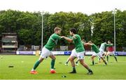 25 May 2018; Kieran Sadlier, left, and Barry McNamee of Cork City warm up prior to the SSE Airtricity League Premier Division match between St Patrick's Athletic and Cork City at Richmond Park in Dublin. Photo by David Fitzgerald/Sportsfile
